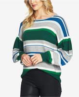 CeCe Striped Drop-Shoulder Sweater