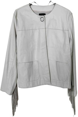 Pinko White Leather Leather Jacket for Women