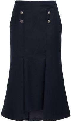 Alexander McQueen Pleated Wool-twill Midi Skirt
