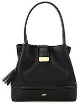 Kate Landry Tasseled Trapunto Hobo Bucket Bag
