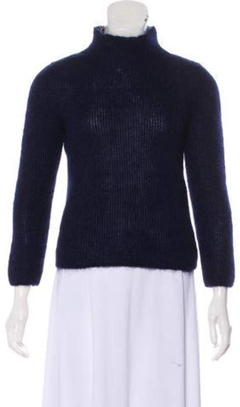 Celine Céline Mohair Turtleneck Sweater Navy Céline Mohair Turtleneck Sweater