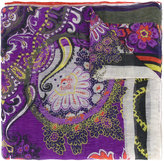 Etro floral print scarf - women - Silk/Linen/Flax - One Size