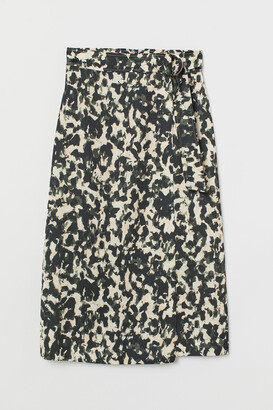H&M D-ring Wrap-front Skirt