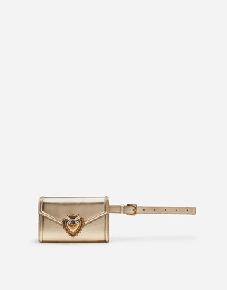 Dolce & Gabbana Devotion Fanny Pack In Mordore Nappa Leather