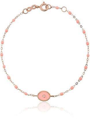 Gigi Clozeau 18kt rose gold Classic Gigi North Star salmon pink and diamond beaded bracelet