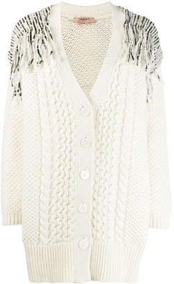 Twin-Set sequin knitted cardigan