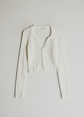 Which We Want Women's Campbell Knit Cardigan Sweater in White, Size Large