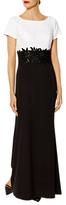 Gina Bacconi Valerie Contrast Lace Dress, Black/White