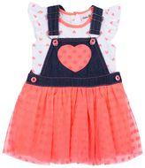 Little Lass Baby Girl Heart Tee & Tutu Jumper Set