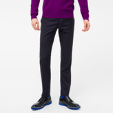 Paul Smith Men's Slim-Fit Navy Two-Tone Micro-Check Wool Trousers