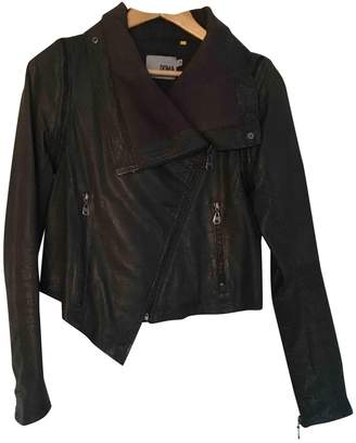Doma Green Leather Jacket for Women