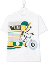 Fendi cycling print T-shirt - kids - Cotton - 3 yrs