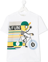 Fendi cycling print T-shirt