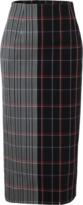 Victoria Beckham Plaid Pencil Skirt