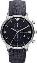 Giorgio Armani AR1690 43mm Stainless Steel Case Blue Cloth Mineral Men's Watch