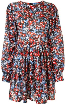Lhd Floral Print Mini Dress
