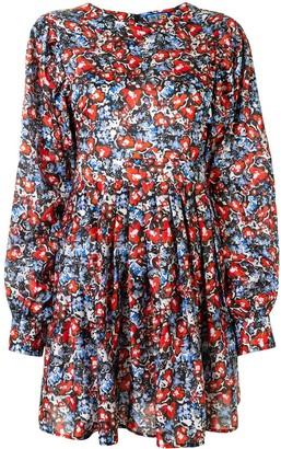 Lhd Floral Print Mini Dress