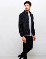 Edwin Labour 4 Pocket Wool Flannel Check Shirt Black/White