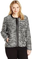 Calvin Klein Women's Plus-Size Sweater Jacket