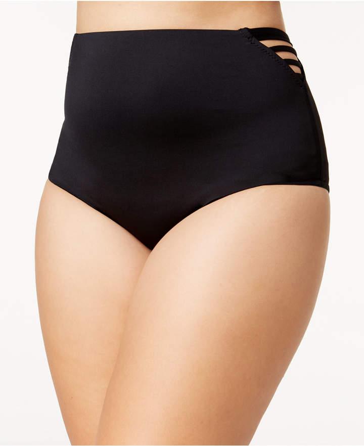 Becca Etc Plus Size Making The Cut High-Waist Bikini Bottoms
