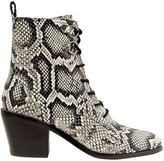 Diane von Furstenberg Dakota Snake-effect Leather Ankle Boots