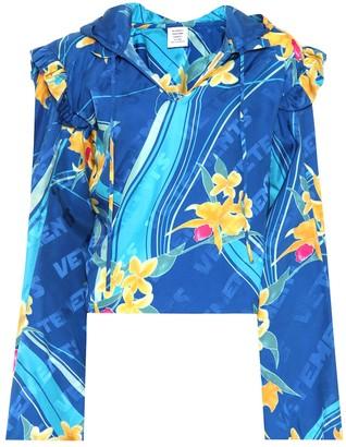 Vetements Floral-printed silk top