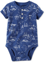 Carter's Sailboat-Print Henley Bodysuit, Baby Boys (0-24 months)