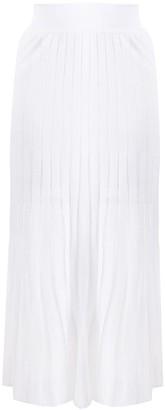 Balmain Pleated Knitted Skirt