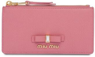 Miu Miu Embellished Bow Wallet