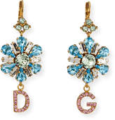 Dolce & Gabbana Crystal Flower Earrings