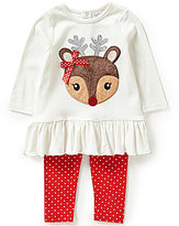 Starting Out Baby Girls 12-24 Months Deer Applique Tunic and Leggings Set