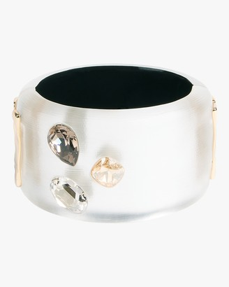 Alexis Bittar Triple Crystal Large Hinge Bracelet