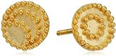 Satya Jewelry Celestial Gold-Plated Sun and Moon Stud Earrings