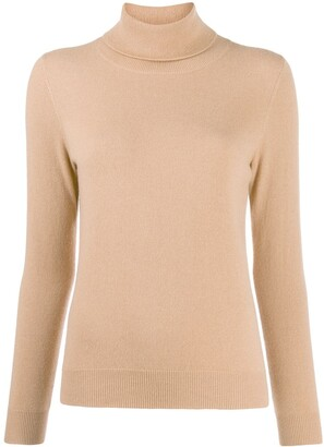 N.Peal fine knit roll neck jumper