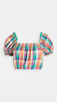 Playa Lucila Plaid Top