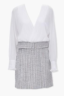 Forever 21 Combo Tweed Mini Dress