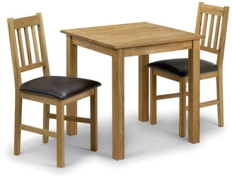 Julian Bowen Coxmoor 75 x 75 cmSquare Solid Oak Dining Table + 2 Chairs