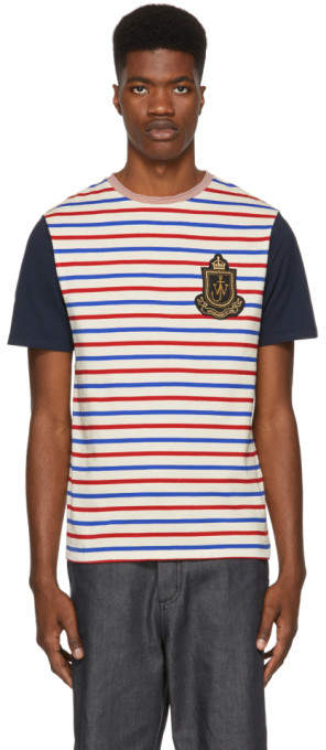 J.W.Anderson Multicolor Panelled Breton Stripe T-Shirt