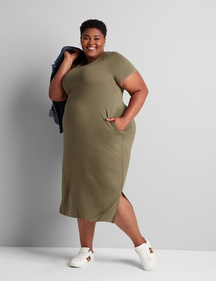 Lane Bryant Jersey Midi Dress