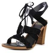 Franco Sarto Sierra Open Toe Suede Platform Sandal.