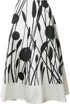 Carolina Herrera floral circle skirt - women - Silk/Cotton - 8
