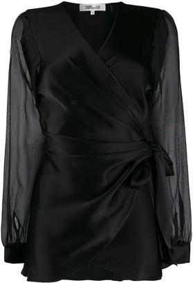 Dvf Diane Von Furstenberg Klee wrap shirt