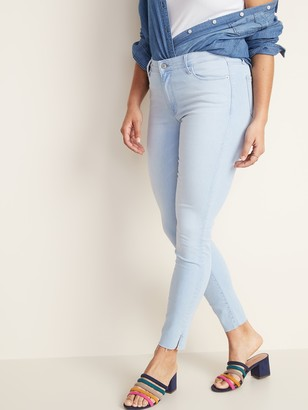 Old Navy Mid-Rise Built-In Sculpt Raw-Edge Rockstar Jeans for Women