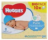 Huggies Pure Baby Wipes 10 x 56 per pack - Pack of 2