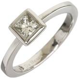 De Beers 18K White Gold 0.35ct Diamond Ring