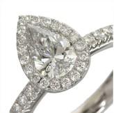De Beers 950 Platinum Aura Pear Shape 0.72ct. & 0.43ct. Diamond Ring Size 5