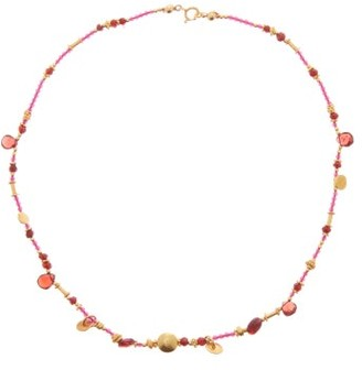Katerina Makriyianni - Garnet And Gold-vermeil Beaded Necklace - Red Gold