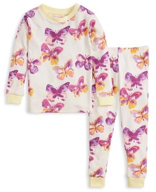Burt's Bees Baby Organic Cotton Baby Girls & Toddler Girls Snug Fit Long Sleeve Pajamas, 2-Piece Set (12M-5T)