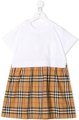 BURBERRY KIDS Check Skirt Dress