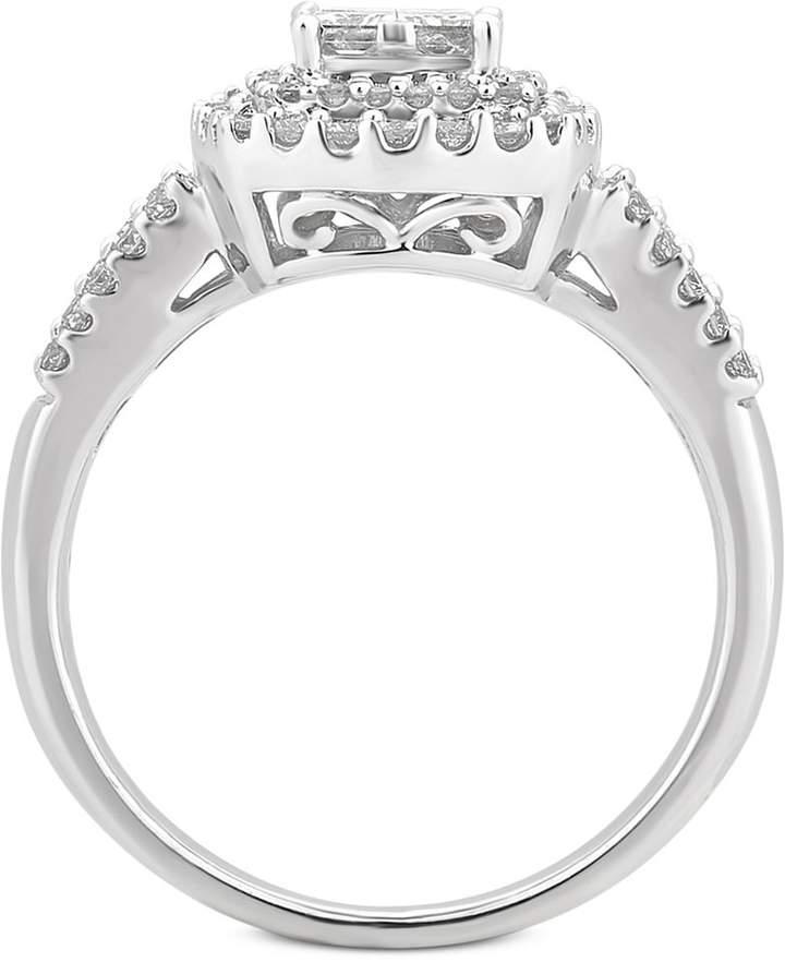 Macy's Diamond Cluster Bridal Set (1-1/5 ct. t.w.) in 14k White Gold